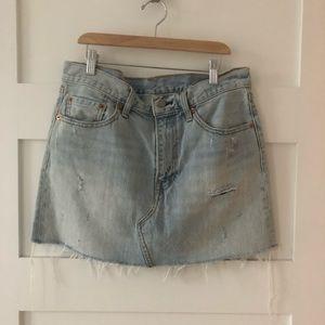 Levi's highwaisted denim skirt size 29